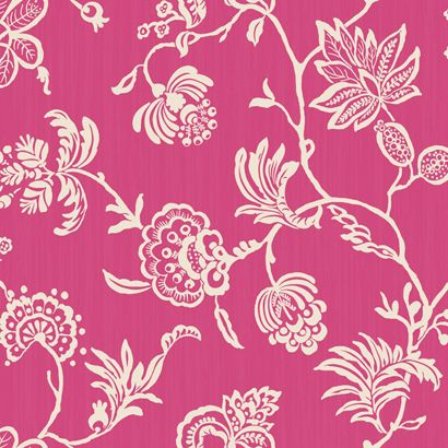 can't the walls! pink floral wallpaper