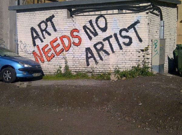 Art needs no artist! #Tallinn (by Ruvi Kitov)
