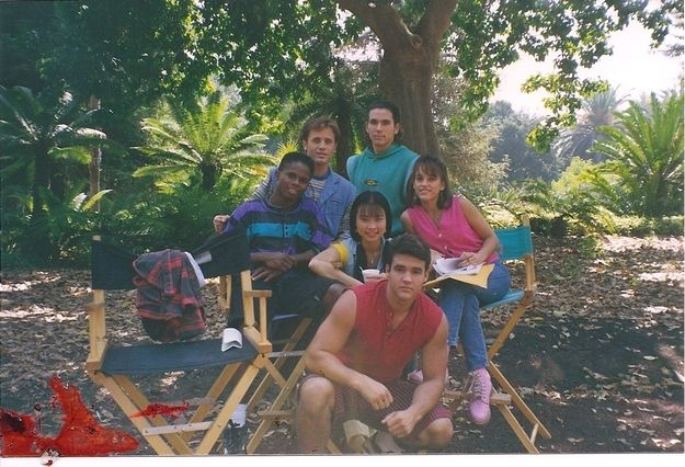 "And chillin' on set: | Where Are They Now? The Original ""Power Rangers"""