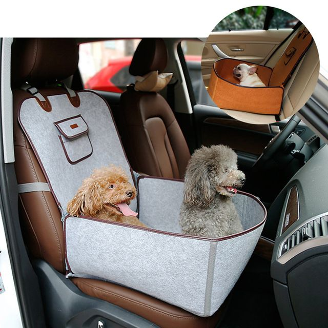 2 in 1 Pet Booster Seat Car Carrier Dog Seat Carry Storage Bag for Cars Travel Carrier Bucket Basket Hammock for Dogs