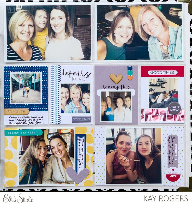 Kay Rogers for Elle's Studio...Project Life style scrapbooking layout