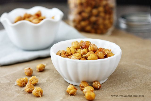 A healthy and tasty snack for at home or on the go - Roasted Garlic Parmesan Chickpeas.