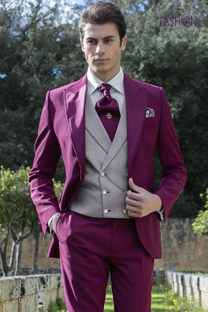 Vestiti Eleganti Uomo Colorati.Vestito Uomo Fucsia Da Cerimonia Completo Da Uomo Vestiti