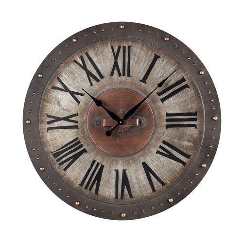 Metal Roman Numeral Outdoor Wall Clock. - 128-1005
