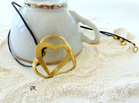 Brass Handmade Pendant  Romantic Heart love by GeorgiaCollection, €14.50