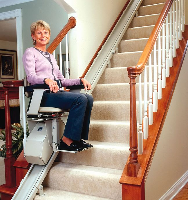 Bruno's Electra-Ride II Straight Rail Stairlift Combines