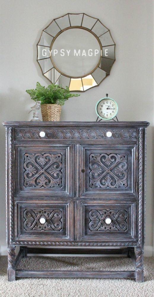 Winter White Antique Cabinet