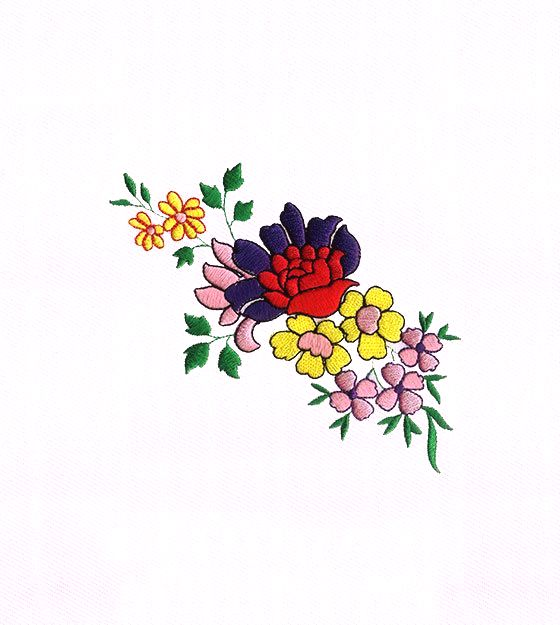 Breathtaking Colorful Rose Flowers Embroidery Design is on sale now!!
