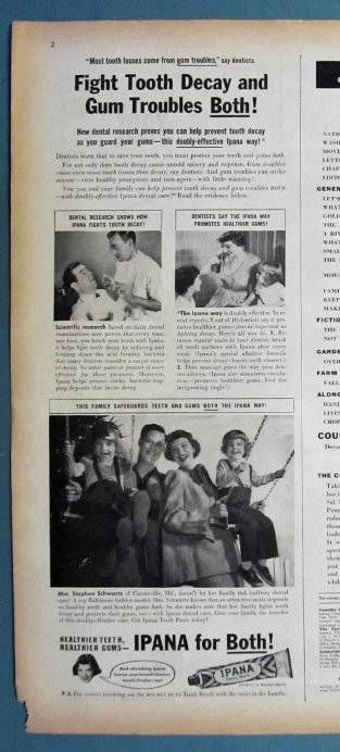 By Stephen Schwartz Family of Catonsville. Photo of the Schwartz with their two daughters. with Photo Endorsement. Dated Original 1949 Magazine Ad. Half Page Ad on Large Format. Tear Sheet. | eBay!