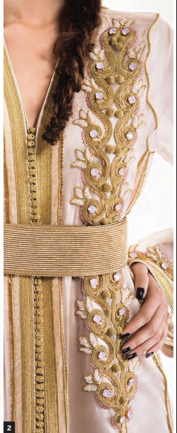 Beutifule embroidery on SIHAM TAZI caftan