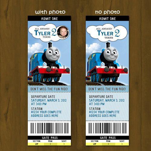 Thomas Train Ticket Printable Birthday Ticket Invitation
