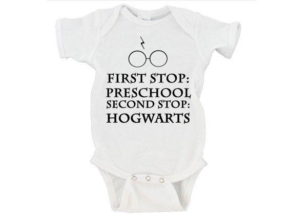 First Stop Preschool Second Stop Hogwarts - Harry Potter Baby Bodysuit