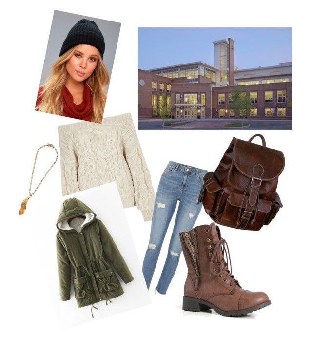 """""""School day"""" by alicia2600 ❤ liked on Polyvore featuring River Island, LULUS, AmeriLeather and Prada"""