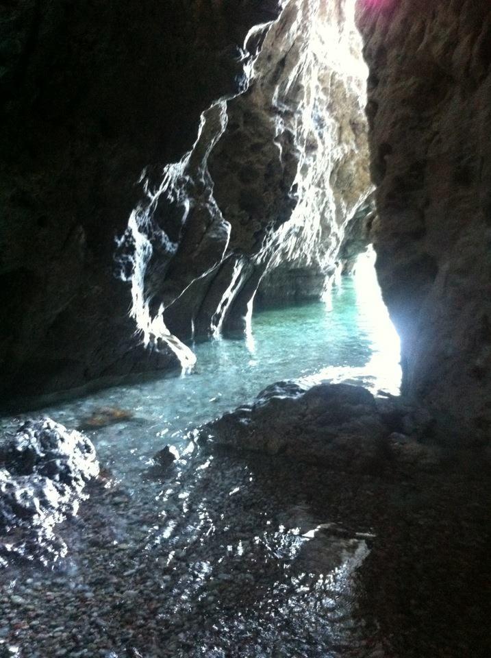 A cave at Traganou beach, Rhodes Greece