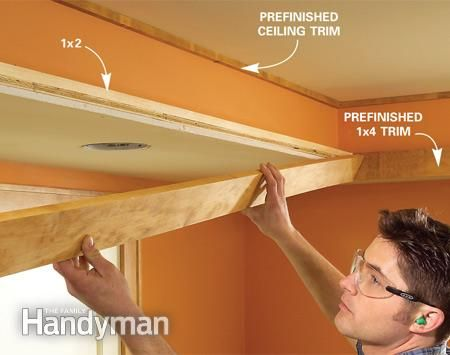 How to Build a Soffit Box with Recessed Lighting- for over kitchen cabinets