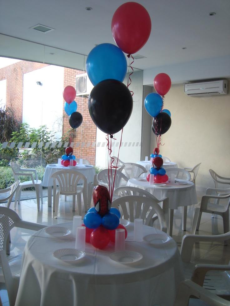 Centro de mesa Spiderman