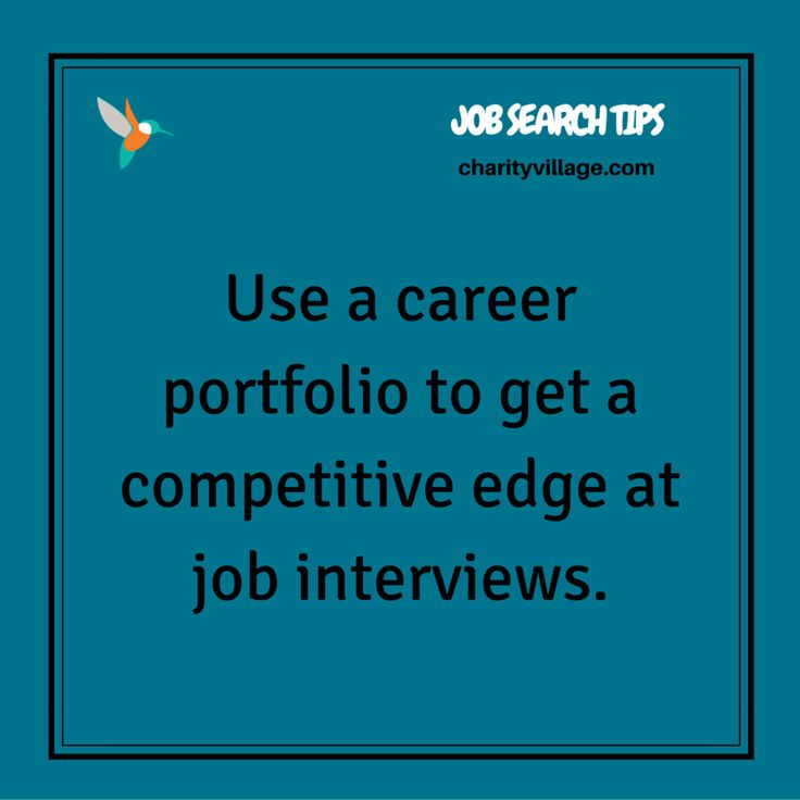 Career Portfolios Give You A Competitive Edge #jobsearch