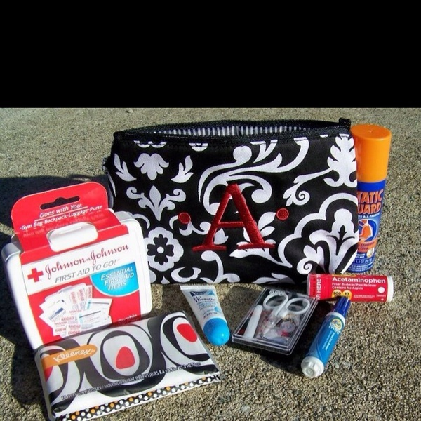 Make the bride a survival kit for the BIG DAY using Thirty-One's Zipper Pouch ($15)!