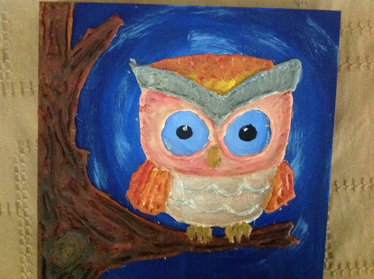 Wise owl with glue gun @heather8532