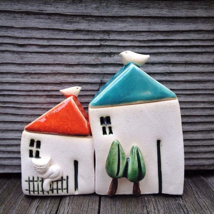 Anna Bielawska - ceramika SHE  miniaturowe domki www.polandhandmad…