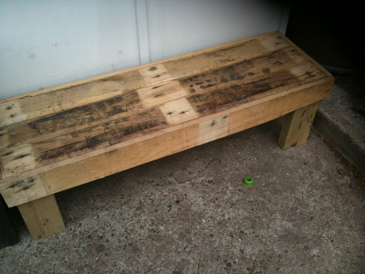 Bench Seat- Made from a Pallet - Nov 2012