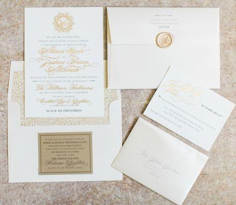 destination ballroom wedding featuring timeless dcor in atlanta - Wedding Invitations Atlanta