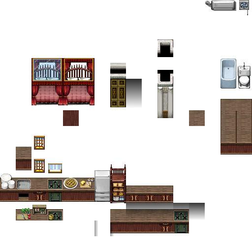 RPG Maker VX Carpets Autotiles by Ayenechan Pixel Rpg maker
