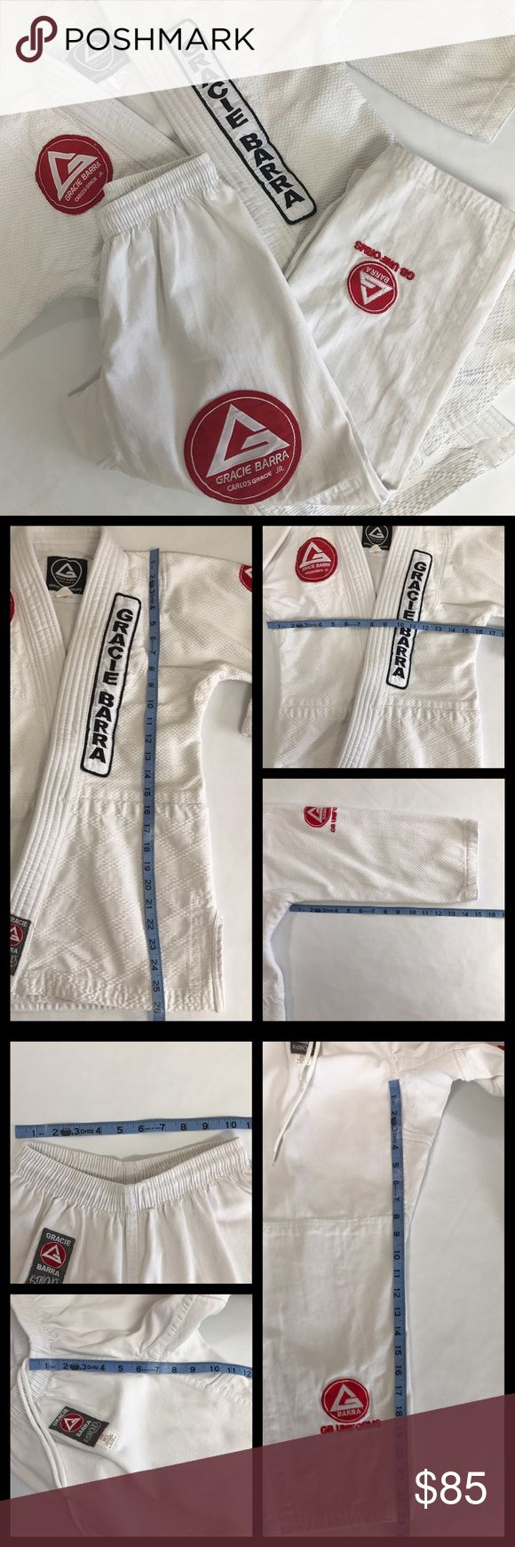 Boys Gracie Barra Jiu Jitsu/MMA Kimono / Gi Official Gracie Barra (Carlos Gracie Jr) Gi. Very good condition. My son used for about 2 months. No rips, tears, or stains.   - Please see photos for measurements.  - Leave a comment if you have any questions! Gracie Barra Other
