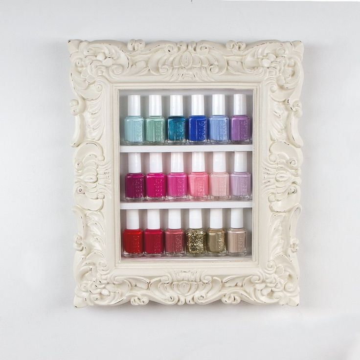 etag re vernis cadre nail polish framed shelf rangement. Black Bedroom Furniture Sets. Home Design Ideas