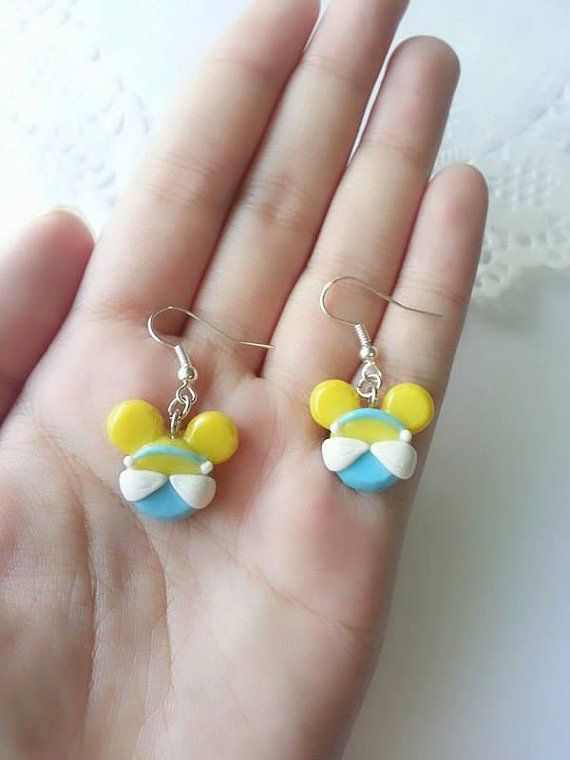 a57325f19b674 Princess Cinderella Inspired Mickey Mouse Head Earrings - Polymer ...