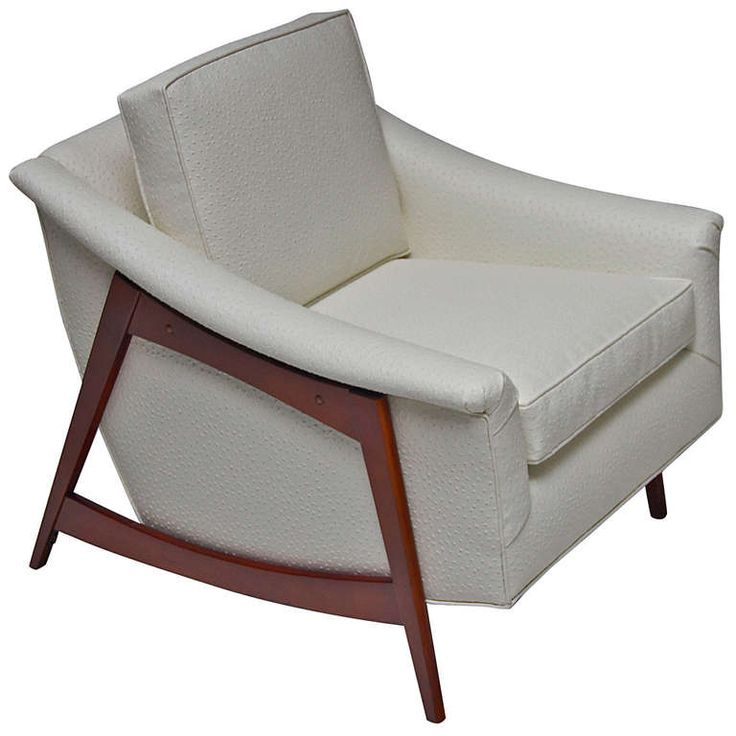 1960's Mid Century Lounge Chair with Faux Emu Upholstery |