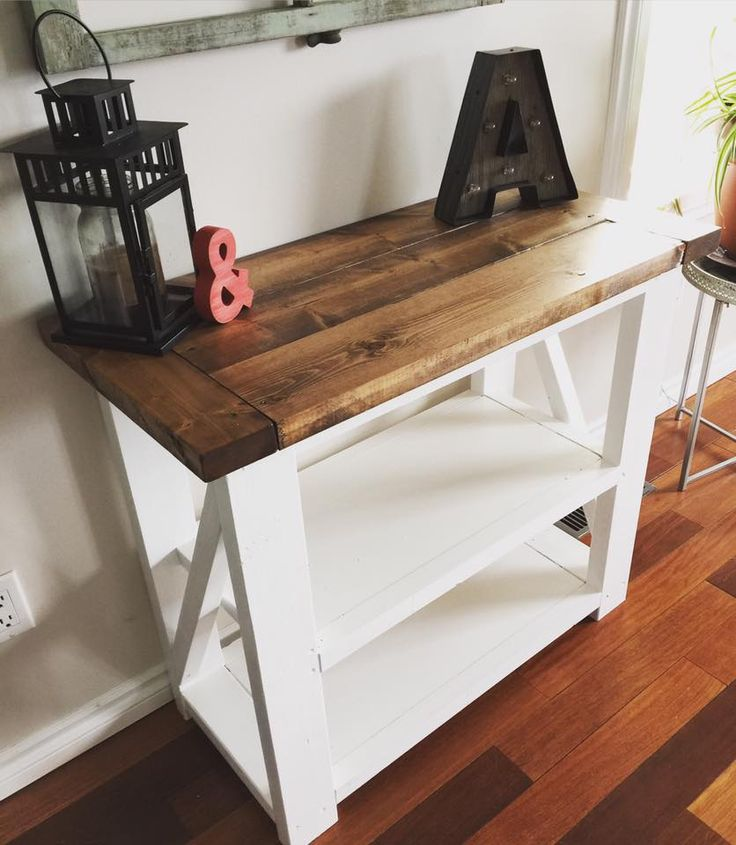 Best Rustic Home Decor Ana White Entry Way Console Table 400 x 300