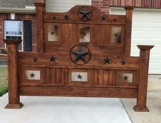 You Will Find Our Custom Built Wood Beds One Of A Kind. We Have Rustic  Beds, Western Theme Beds, Texas Star Beds, Cowhide Beds.