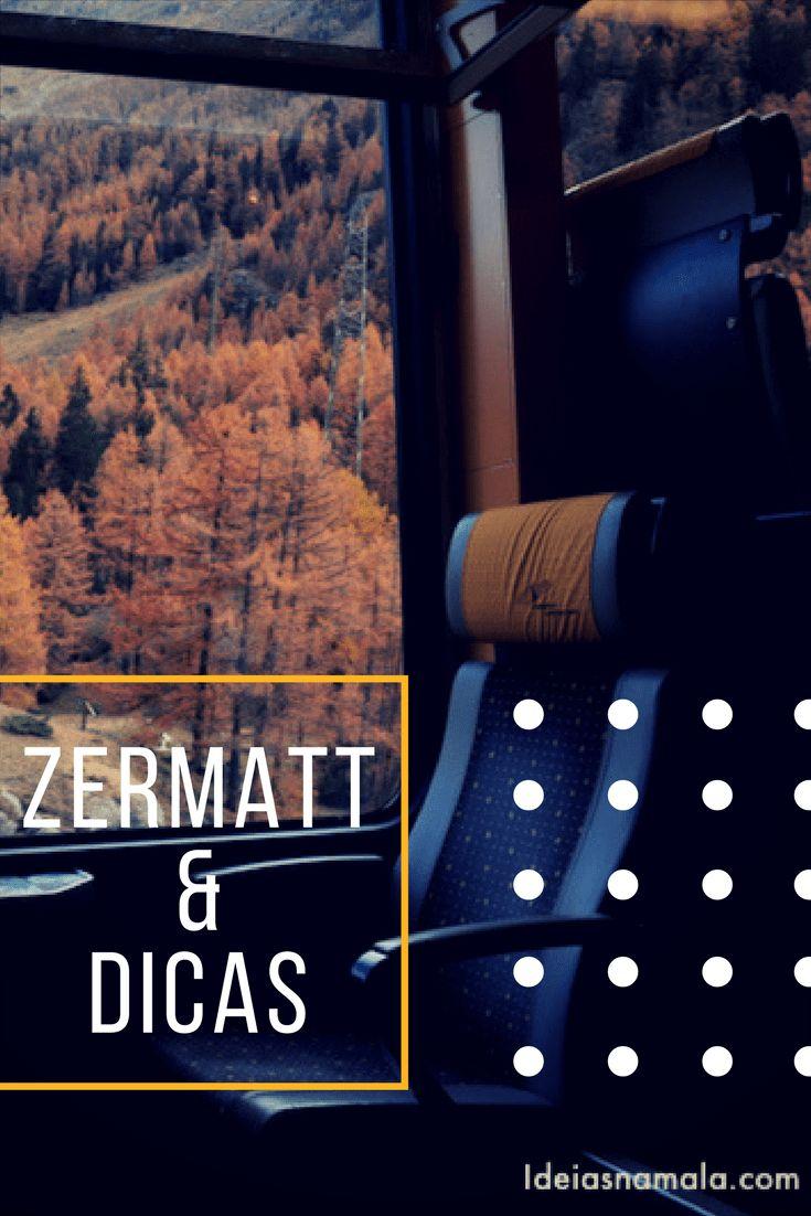 Planejando uma viagem para Zermatt na Suíça? Saiba o que ver e fazer na cidade, como chegar, que montanhas visitar, dicas para esquiar e muito mais .Confira as dicas de Zermatt desse post!