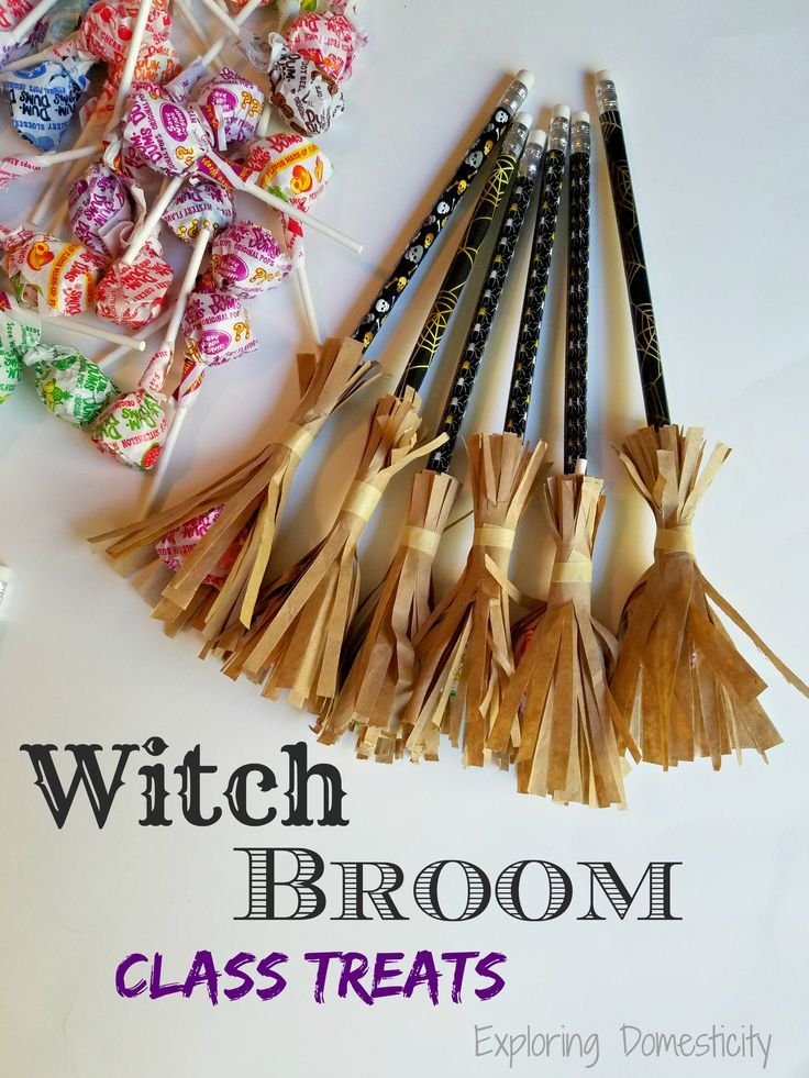 Witch Broom Halloween Class Treats - great with or without the candy