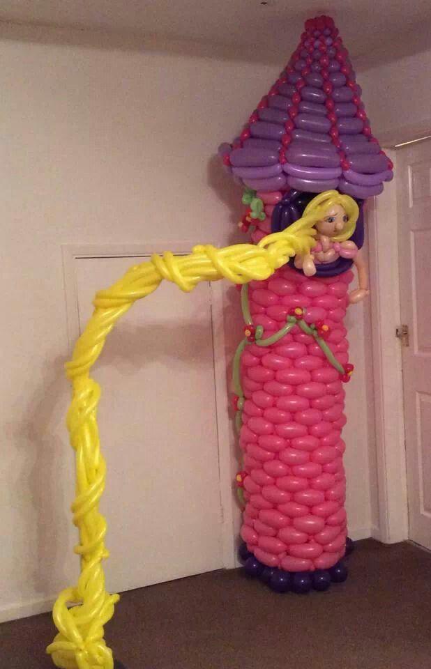 Rapunzel decoration sculpureballoon princess rapunzel for Decoracion de c