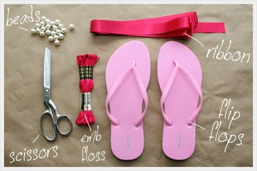 Make Your Flip Flops DIY