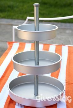 aluminum baking pans to tiered cupcake stand