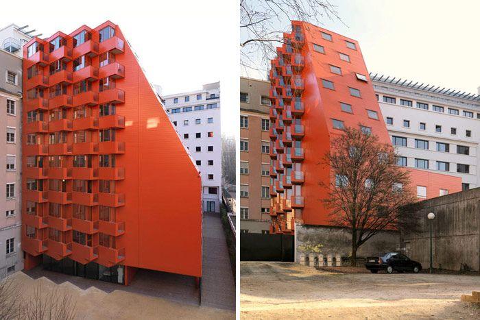 Architecture Grenoble Maison des Etudiants et Cité Galilée