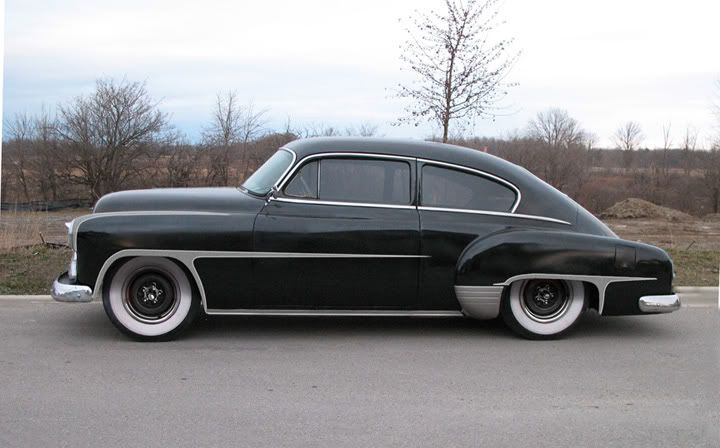 1951 chevrolet fleetline deluxe 2 door fastback sedan