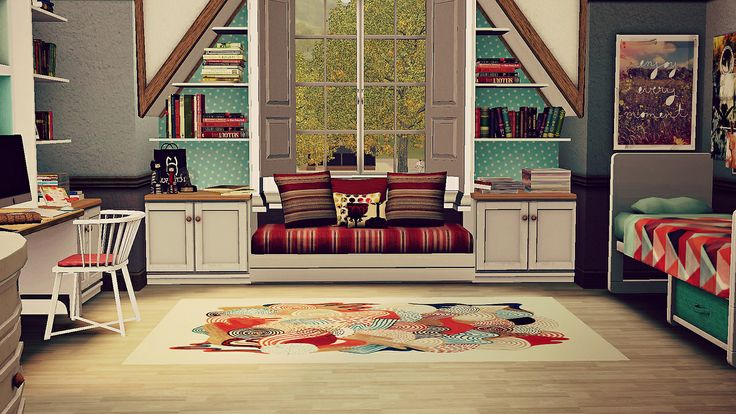 Attic room house ideas pinterest attic rooms attic for Sims 3 6 bedroom house