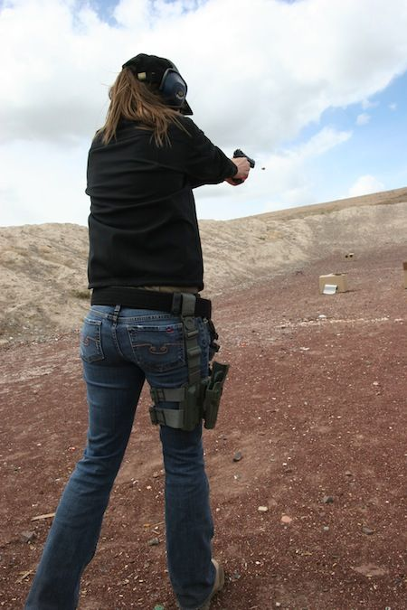 Ashley wins the BlackHawk! holster and Girls with Guns giveaway