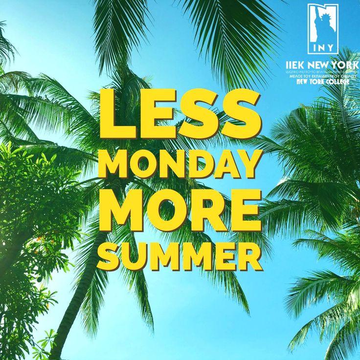Γιατί οι Δευτέρες είναι πολύ πιο όμορφες όταν είναι καλοκαίρι! Να έχετε μια όμορφη εβδομάδα! #kalimera #monday #summer #iny #iekneyyork