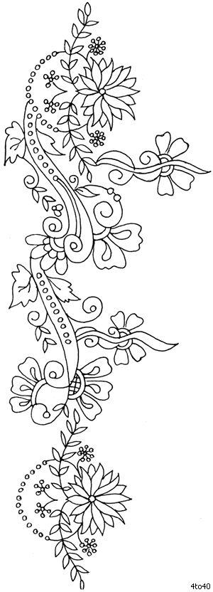 Indian Motifs Textile Pattern, Sarika Agarwal Textile Border Pattern 4