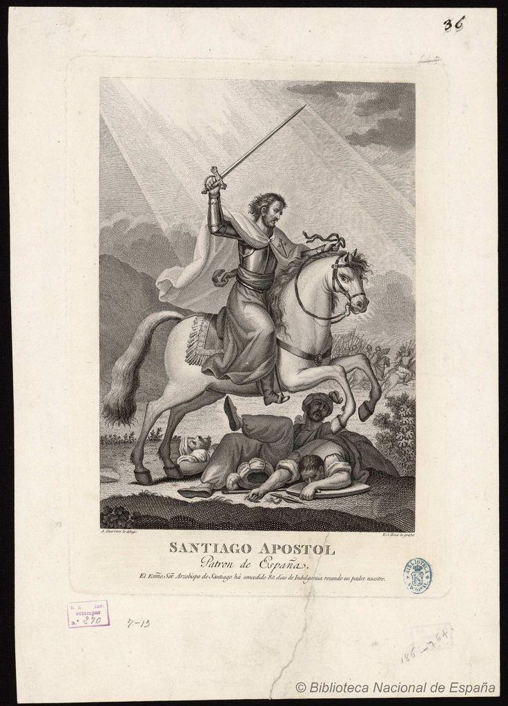 Santiago Apostol Patron de España. Boix, Esteban 1774-ca. 1828 — Grabado — 1784-1800