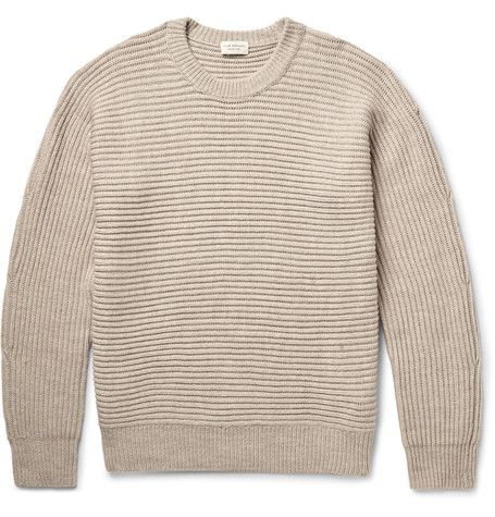 Club Monaco Horizontal Shaker Ribbed Merino Wool Sweater ($230)