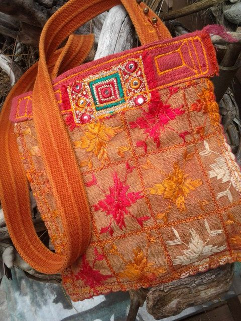 ZIVA'S ISRAELI Pouch  Boho Tribal Israel and India by nomadicbags, $110.00