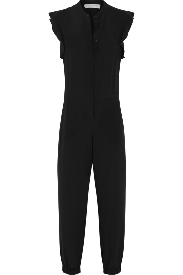 Stella McCartney|Ruffled silk-crepe jumpsuit|NET-A-PORTER.COM