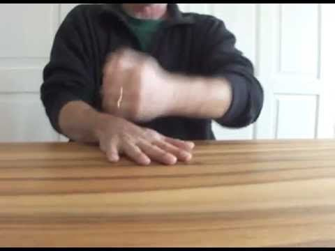 Mayumana-Style I HAND / TABLE flip rhythm pattern demonstrated.