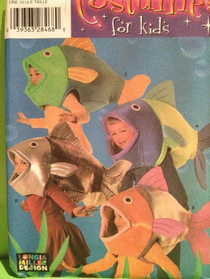 Simplicity Sewing Pattern 4926 Boys Girls Koi Goldfish Fish Costumes One Size